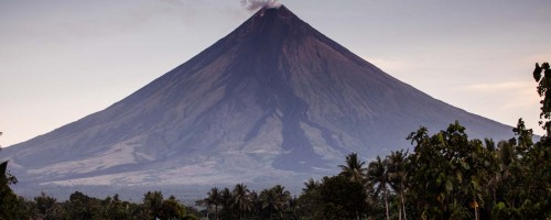 View of Mount Mayon from Tita Chie's back yard