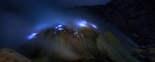 Blue flame at Ijen