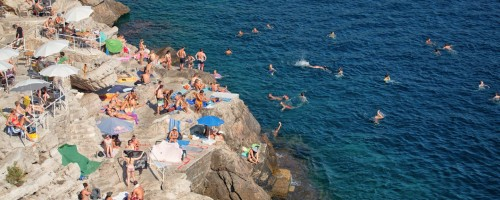 Beach Party on the Rocks near Dubrovnik