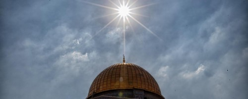 Dome of the Rock and Sun