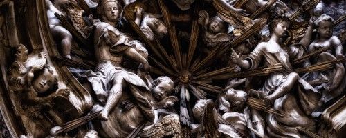 Closeup of Statues at Toledo Cathedral